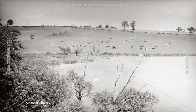 Loscoe Dam, Furnace Lane, Loscoe, c 1900