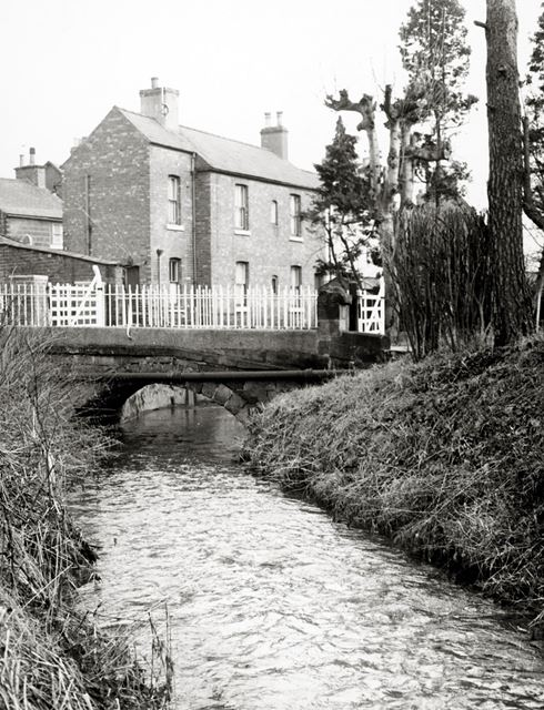 The bridge over the river to Duck Island, Duffield, c 1960s