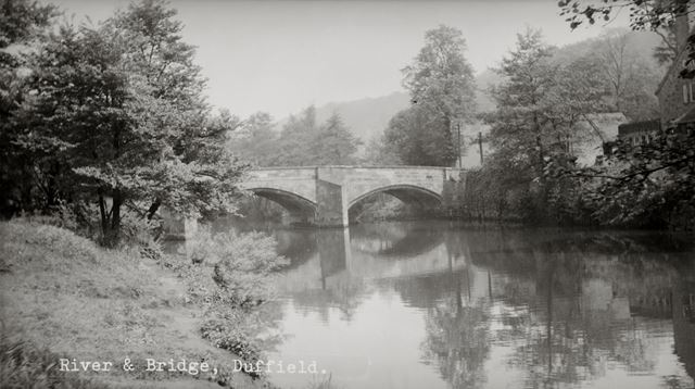Duffield Bridge on the river Derwent, Duffield, c 1960s