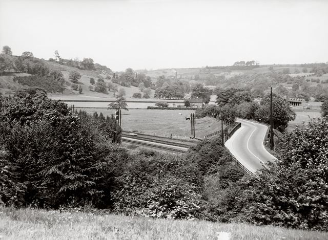 View looking down the A6 towards Belper, just outside Duffield, c 1960s