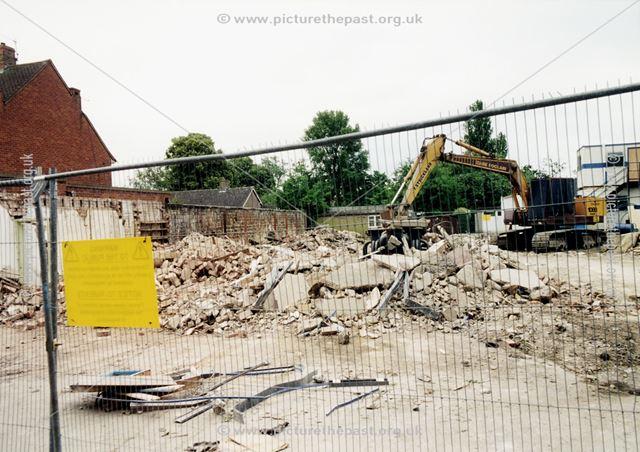 Presbyterian Meeting House - demolition work, Wirksworth Road, Duffield, 2001