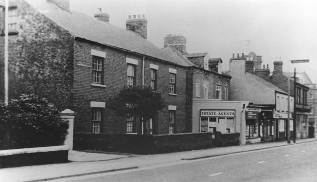Estate Agents, the Old Maternity Home and Dilks Hairdressers, Grovesnor Road, Ripley, 1960s