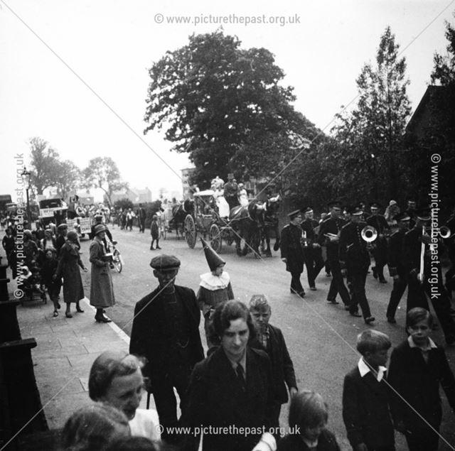 Ripley Carnival Procession, Nottingham Road, Ripley, 1932