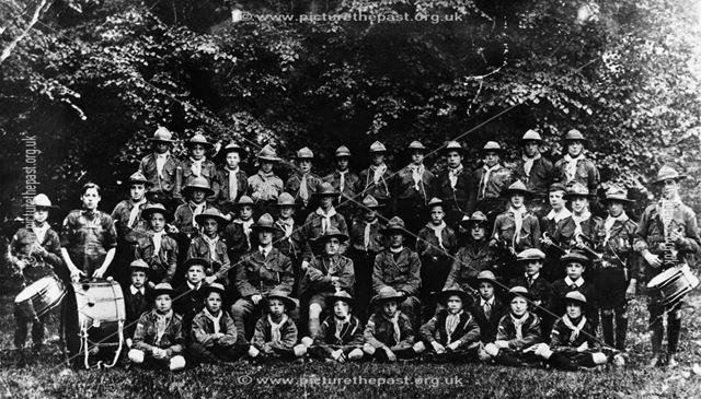 1st Riddings Boy Scouts, St James' Church?, Church Street, Riddings, c 1916-17