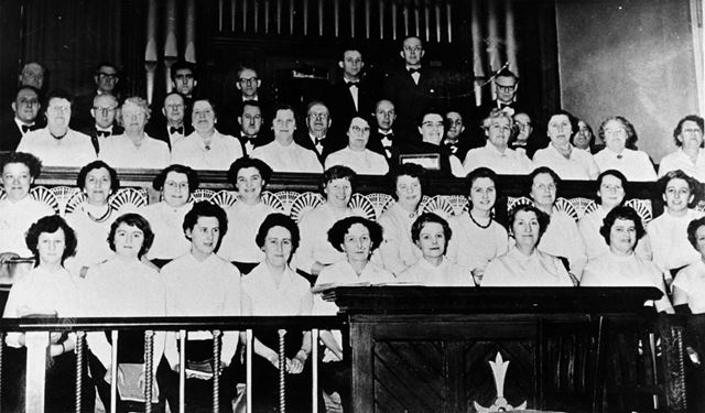 Choral Society, Spring Road, Riddings, 1960s