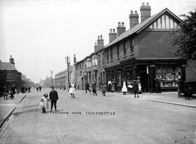 Street Scene just up from Seeley Terrace and 'The Tiger', Nottingham Road, Somercotes, 1900s