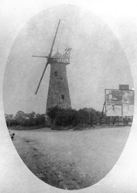 Peasehill Windmill, off Waingroves Road and Steam Mill Lane, Ripley, c 1900