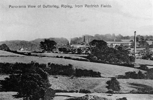 Panoramic view of Butterley from Pentrich Fields