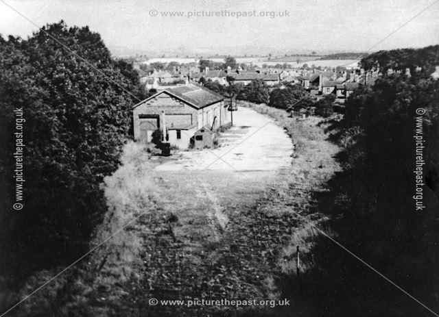 Ripley railway station warehouse