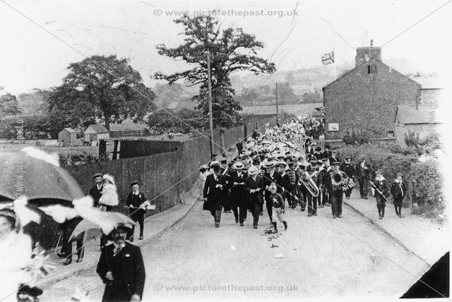 Carnival procession, Loscoe, c 1905 ?