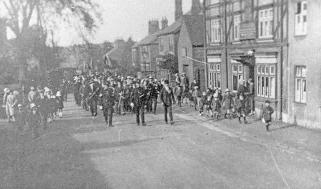 Marching band at Codnor