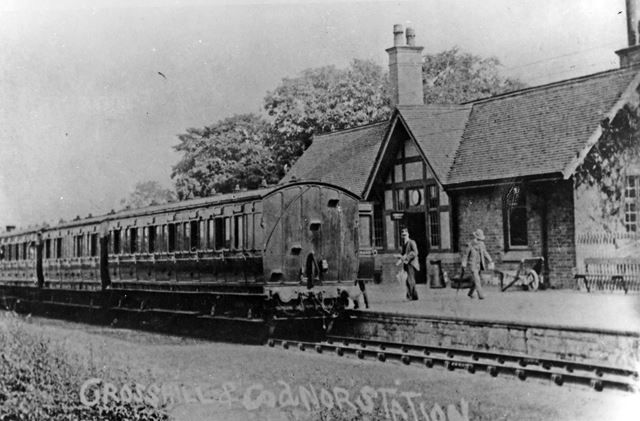 Crosshill and Codnor station, Cross Hill, 1912