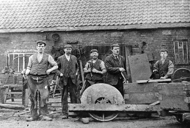 Pentrich Colliery Fitting, and tub shop 1904