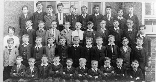 Ripley Council School Boys, Shirley Road, Ripley, c 1900