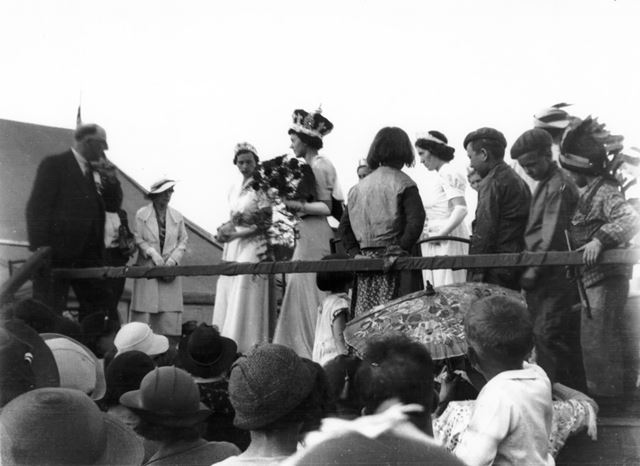 Ripley carnival Queen - Miss Peggy Ogle 1937