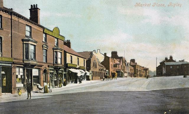 Market place, Ripley Early 1900's looking down High Street