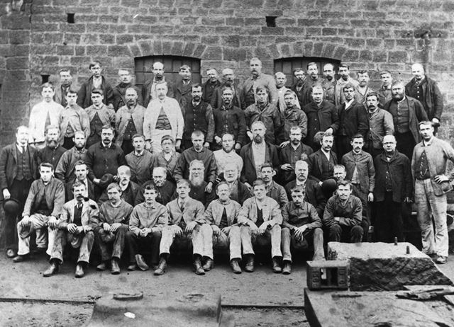 Butterley company engineering shop workers c1900