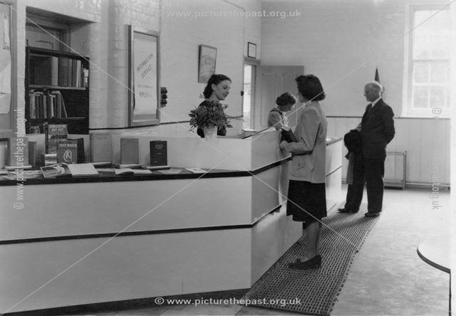 2 interior views of Ripley library at Ebenezer Chapel c1950