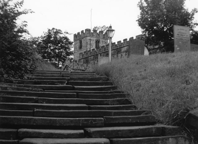 Steps leading to St Matthew's Church