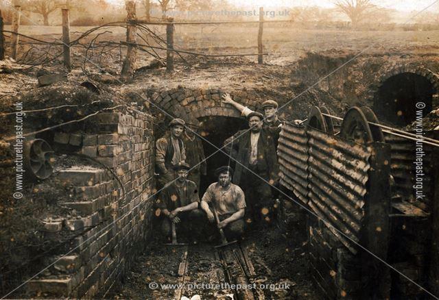 Drift mine entrance, Horsley Woodhouse area, 1921
