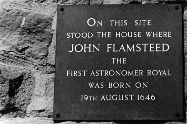Plaque commemorating John Flamsteed's birthplace