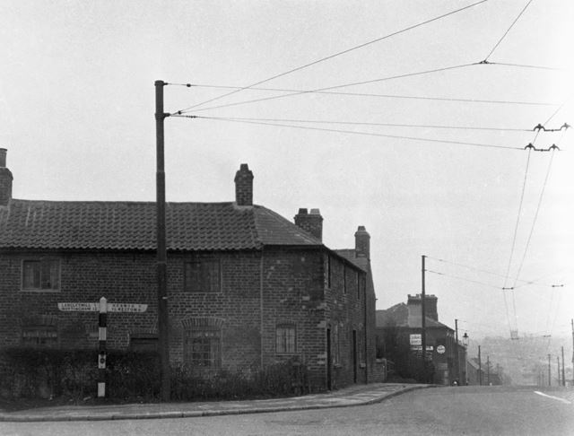 Old houses on the corner of Heanor Road and Nottingham Road.