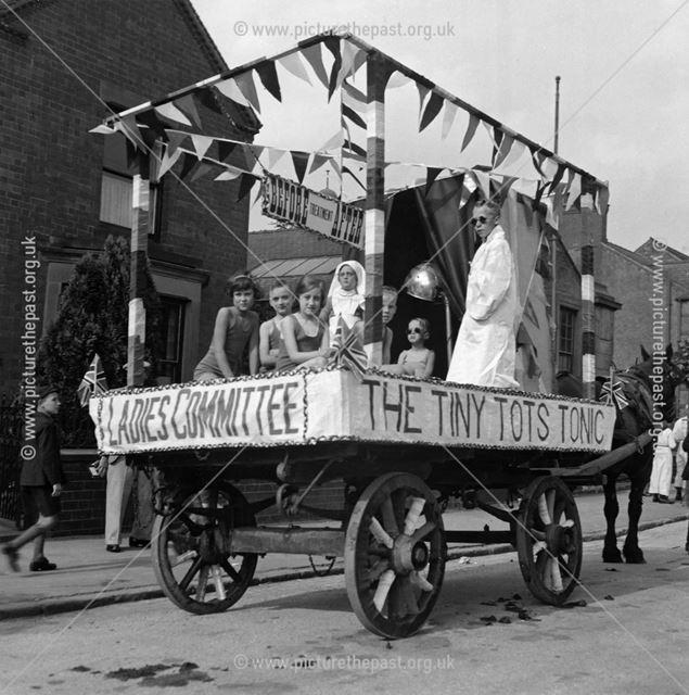 Ripley Carnival, Nottingham Road?, Ripley, 1936