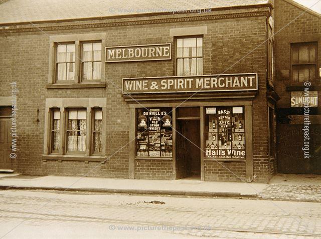 Melbourne's Wine and Spirit Merchant, Nottingham Road, Ripley, c 1920