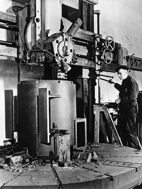 Machine Shop, Butterley Company, Butterley Hill, Ripley, 1950s?