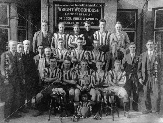 Hartshay Rovers Champion Football Team, Ripley, 1935-36