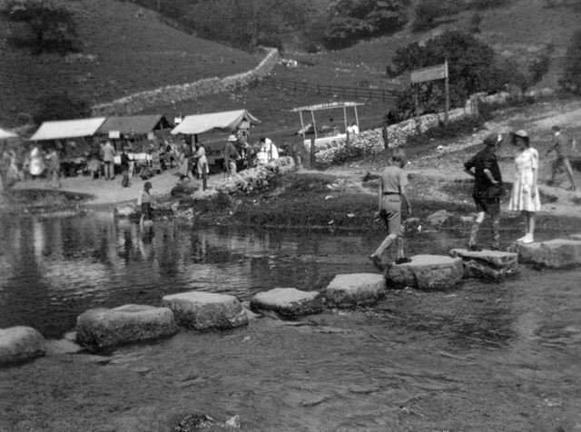 The Stepping Stones, Dovedale, 1950s
