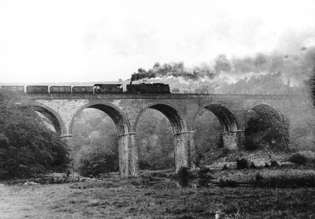 Steam Train on the Viaduct, Monsal Dale, Derbyshire