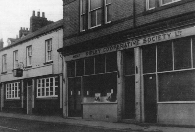 Co-Op Fish Shop and Cross-Keys Public House, 1950s