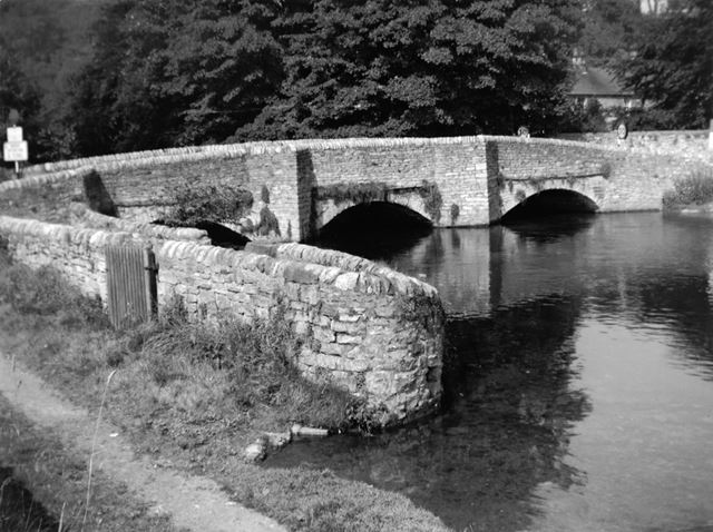The Sheepwash Bridge at Ashford In The Water, 1966