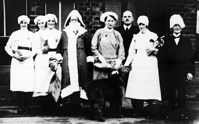Ripley Hospital Staff on Christmas Day, Ripley Hospital 1930