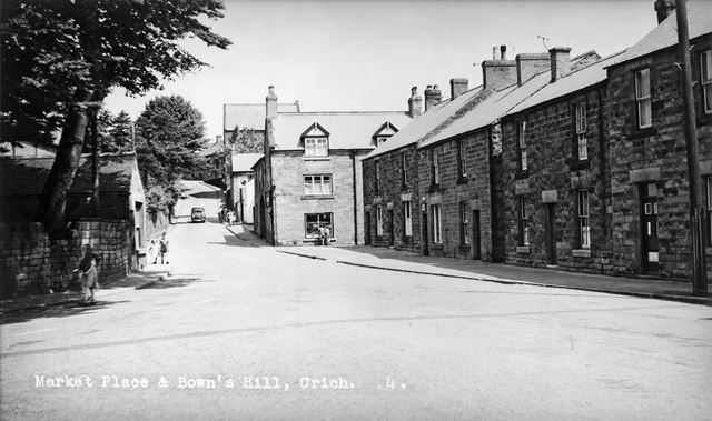Market Place and Bowns Hill, Crich, c 1950