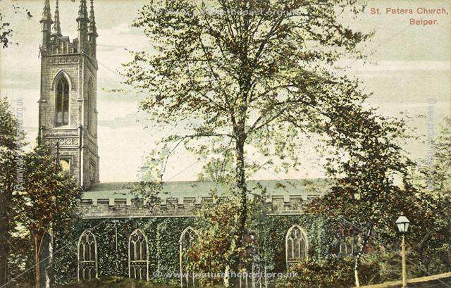 St Peter's Church, Church Street, Belper, c 1910