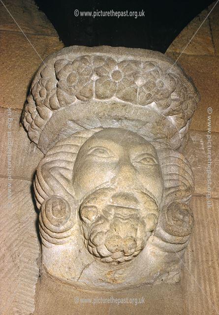 Corbel Stone, North Wall, North Aisle C12-13th, St Alkmund's Church, Church Drive, Duffield
