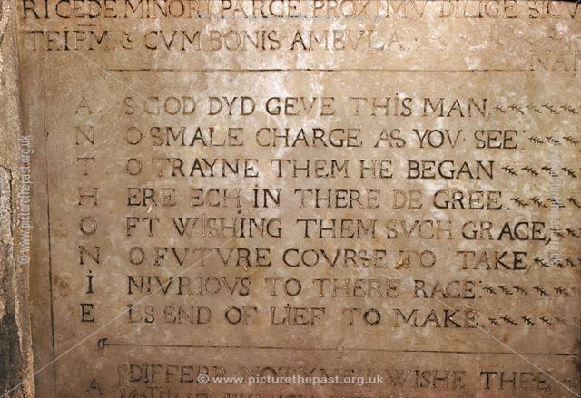 A Bradshaw acrostic (First verse), St Alkmund's Church, Church Drive, Duffield