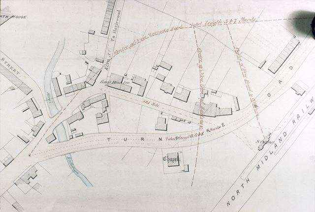 Centre of Duffield after Main Line, post 1840