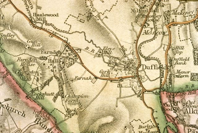 Duffield Ordenence Survey Map of 1836