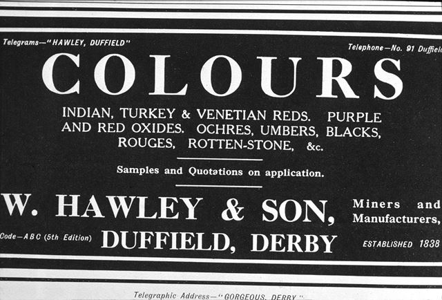 Hawley's Colour Works - Advertisement, Duffield