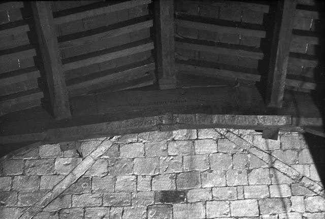 Name in Crossbeam above Tower Arch, Duffield