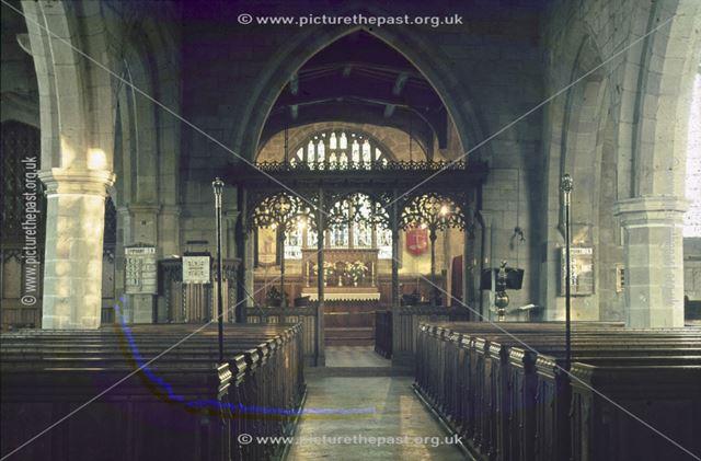 St. Alkmund's Church Interior, Duffield, 1973