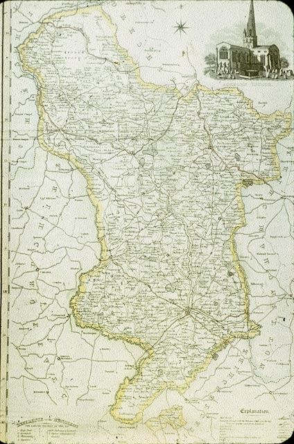 Map of Derbyshire by Pigot?