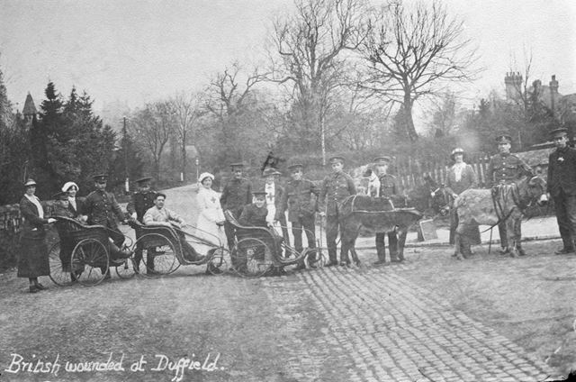 British Wounded at Duffield, c 1910s-20s