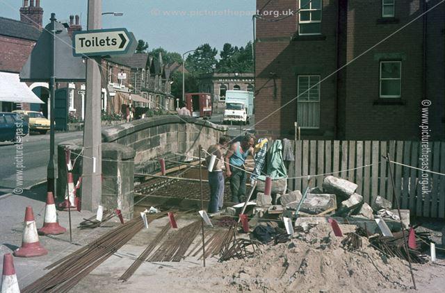 Ecclesbourne Flood Scheme, bridge over River Derwent, Town Street, Duffield, 1974-76