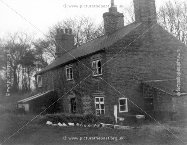 Old Cottages, High Holborn, Codnor Gate, Derbyshire, c 1950s