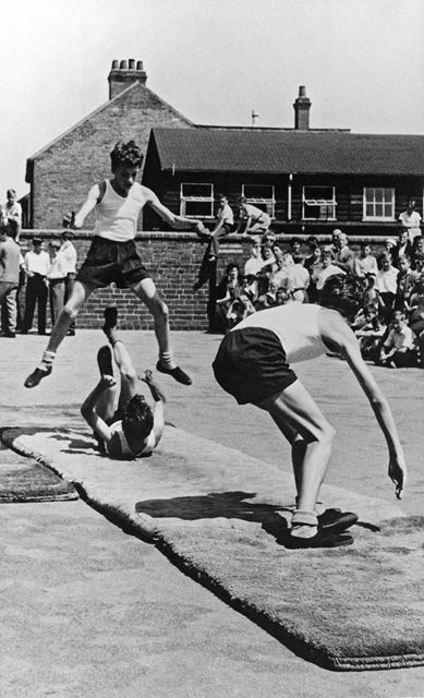 Open Day Gymnastics at Ripley County Senior Boys School, 1953