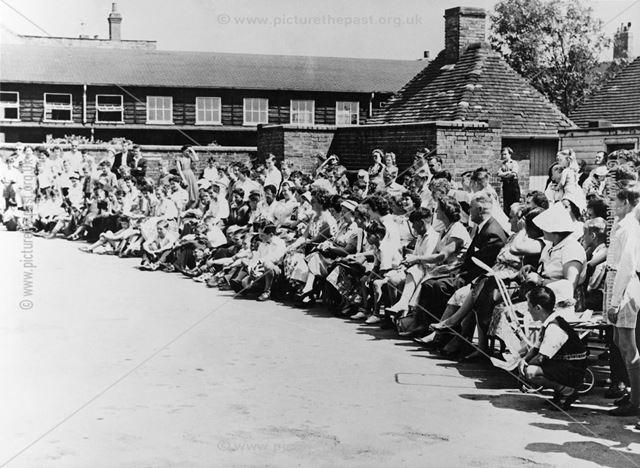 Open Day Gymnastics at Ripley County Senior Boys School, c 1954